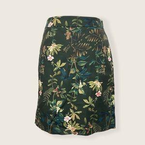 RW&CO. EUC Dark Green Floral Mini Skirt 2